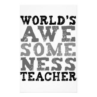 Världs Awesomeness lärare Brevpapper