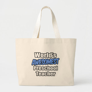 Världs Awesomest förskole- lärare Tygkasse
