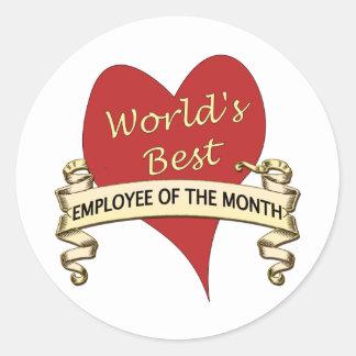 Världs bäst anställd av månaden runt klistermärke