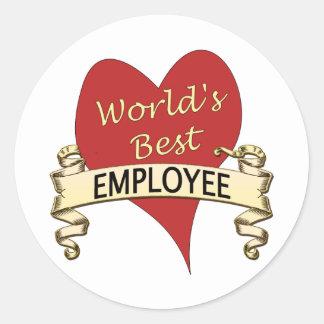 Världs bäst anställd runt klistermärke
