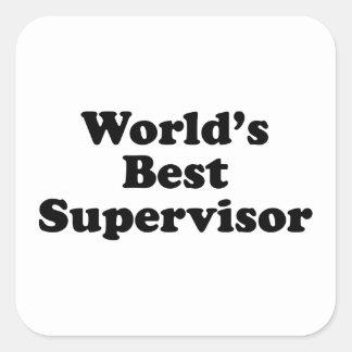 Världs bäst arbetsledare fyrkantigt klistermärke