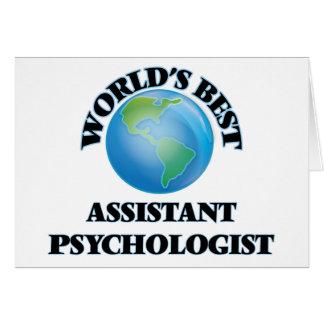 Världs bäst assistentpsykolog hälsningskort
