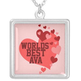Världs bäst Ava (någon namn) Halsband Med Fyrkantigt Hängsmycke