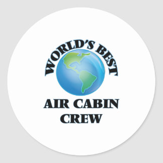 Världs bäst besättning för luftkabin runt klistermärke