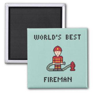 Världs bäst brandman magnet