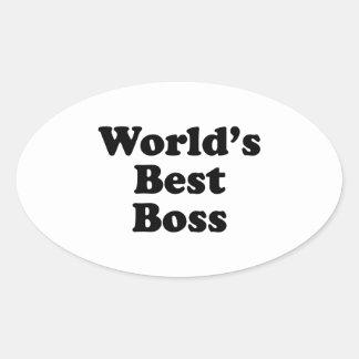 Världs bäst chef ovalt klistermärke