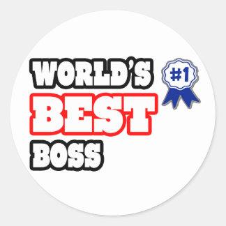 Världs bäst chef runt klistermärke
