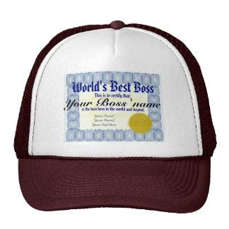 Världs bäst chefcertifikat keps