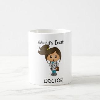 Världs bäst doktor - den gulliga kvinnliga kaffemugg