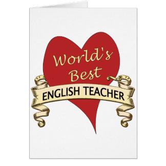 Världs bäst engelska lärare hälsningskort
