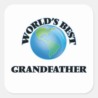 Världs bäst farfar fyrkantigt klistermärke