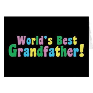 Världs bäst farfar hälsningskort