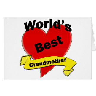 Världs bäst farmor hälsningskort
