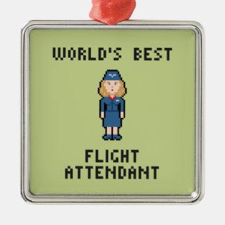 Världs bäst flygvärdinna julgransprydnad metall