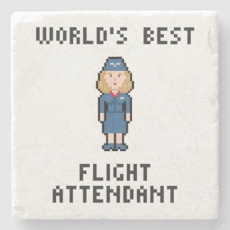 Världs bäst flygvärdinna underlägg sten