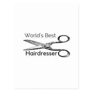 Världs bäst frisör vykort