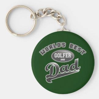 Världs bäst golfare & pappa rund nyckelring