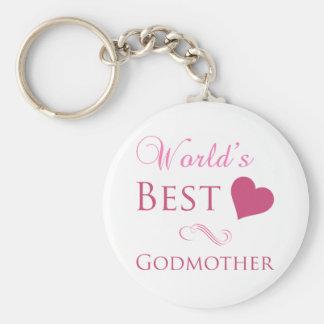 Världs bäst gudmor (hjärta) rund nyckelring