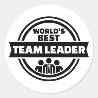 Världs bäst lagledare runt klistermärke