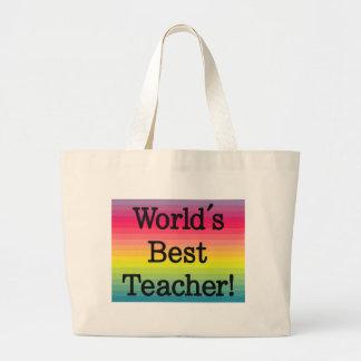 Världs bäst lärare - läraregåva tygkasse