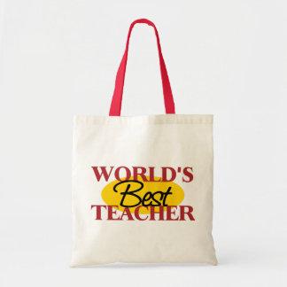 Världs bäst läraregåva budget tygkasse