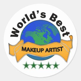 Världs bäst Makeupkonstnär Runt Klistermärke