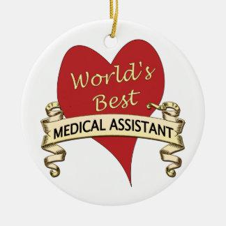 Världs bäst medicinska assistent julgransprydnad keramik