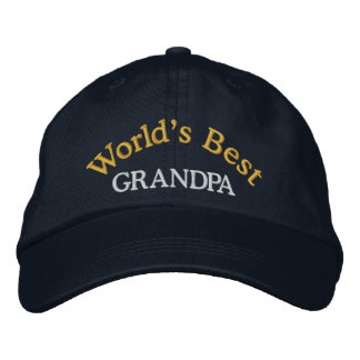 Världs bäst morfar broderade baseballmössa/hatt keps