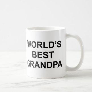Världs bäst morfar vit mugg