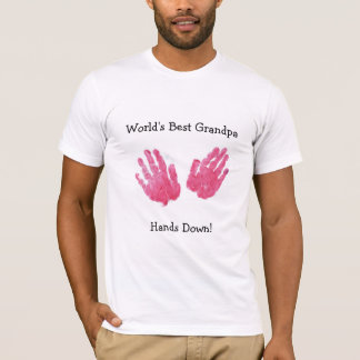 Världs bäst morfarHandprint skjorta T Shirts