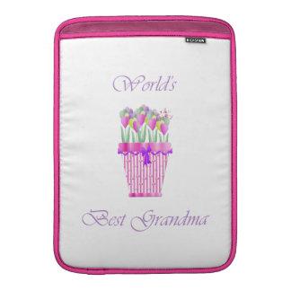 världs bäst mormor (rosablommor) MacBook air sleeve