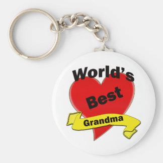 Världs bäst mormor rund nyckelring