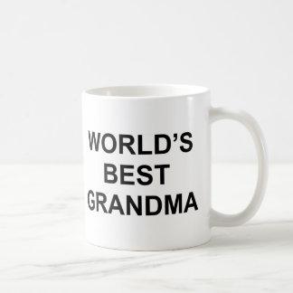 Världs bäst mormor vit mugg