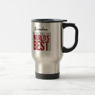 Världs bäst namn B22B för anpassningsbar för text  Kaffe Mugg