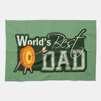 Världs bäst pappa; Bågskytte Kökshandduk