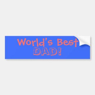Världs bäst pappa! bildekal