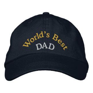 Världs bäst pappa broderade baseballmössa/hatt hatt