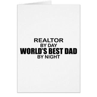 Världs bäst pappa - fastighetsmäklare hälsningskort