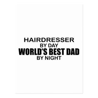 Världs bäst pappa - frisör vykort