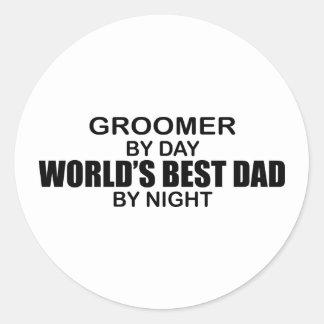 Världs bäst pappa - Groomer Runt Klistermärke