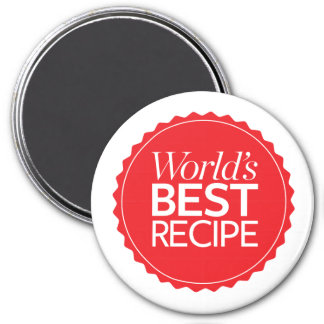 Världs bäst recept magnet