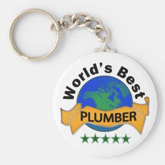 Världs bäst rörmokare rund nyckelring