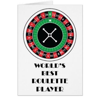 Världs bäst roulettspelare hälsningskort