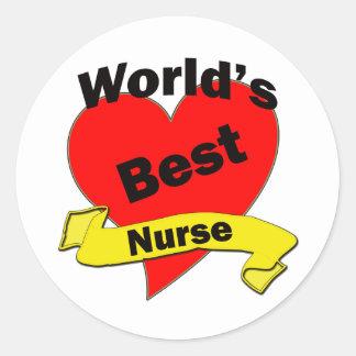 Världs bäst sjuksköterska runt klistermärke