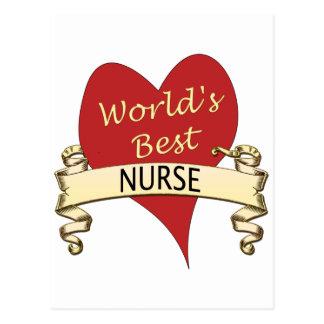 Världs bäst sjuksköterska vykort