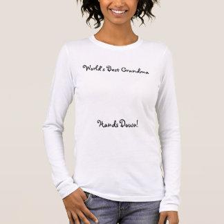 Världs bäst skjorta för mormor (utan handprints) t-shirts