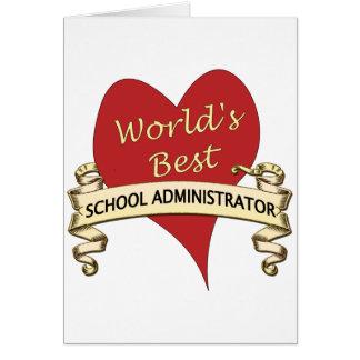 Världs bäst skolföreståndare hälsningskort
