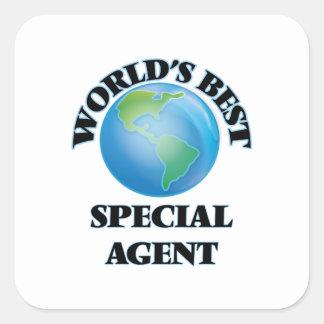 Världs bäst speciella agent fyrkantigt klistermärke
