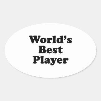 Världs bäst spelare ovala klistermärken