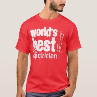 Världs beställnings- text A08 för bäst elektriker T-shirt